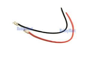 Cordless Phone MU Universal plug Red Black color 100mm wire end solder x 5 pair