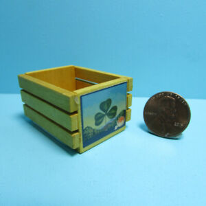 Dollhouse Miniature Large Wood Vegetable Fruit Crate with Label IM39024C