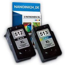 2x Tintenpatronen für Canon 512 XL und 513 XL MP250 MP280 MP495   bei Nano
