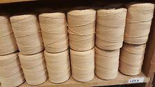 Rug Warp- Lot of 10 (1/2 lb ea.)- Cotton/Polyester Blend- Color Gold