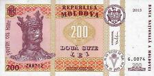 MOLDOVA  200  LEI  2013  -  P NEW   Uncirculated  Banknotes