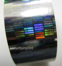 "Holographic Silver Security Hot Stamping Foil ""ORIGINAL"" Roll 30mm wide 120m L"