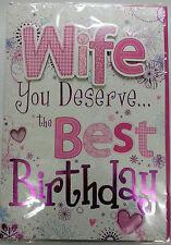 Grand 3D Femme You Le Meilleur Carte D'anniversaire à paillettes