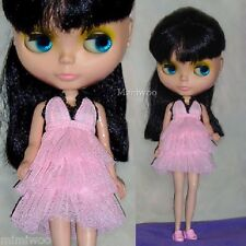 """Mimi Collection Fashion 12"""" Neo Blythe Doll Net Layer Dress Pink"""