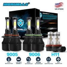 9005 9006 H11 LED Headlight Conversion Kits Fog Bulb 6000K for Honda Civic 04-13