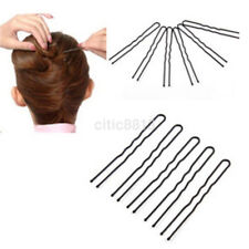 50 Women Waved Hair U-shaped Bobby Pins Barrette Grips Clip Hairpins Salon Black