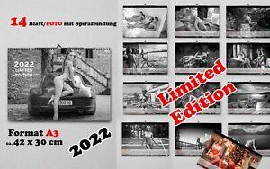 Erotik Kalender Wandkalender 2022 Frauen nackt Akt PinUp A3 42x30 cm Limited