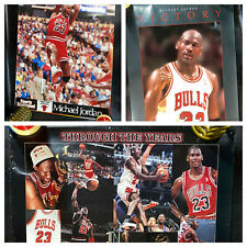 3 Vtg Michael Jordan Posters Victory Through the Years Sports Illustrated 80s 90