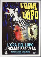CINEMA-manifesto L'ORA DEL LUPO von sydow, ullmann, INGMAR BERGMAN