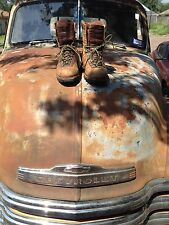 VINTAGE DISTRESSED USA CHIPPEWA BROWN LEATHER LACE UP TRUCKER FARM BOOTS 6 EEE