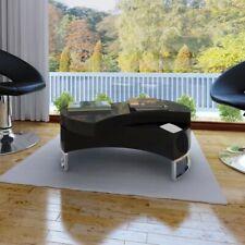Mesa de Centro Ajustable Fibra Vidrio Brillo Mesita Salón Blanca/Negra Familia
