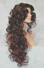 Long Layers of Soft Sexy Curls, Skin Top, no Part Full Synthetic Wig Wigs - #100