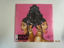 Cardi B Megan Thee Stallion WAP Vinyl Signed Limited Edition Pink out
