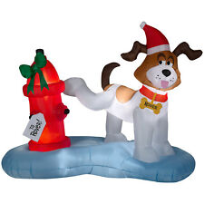 CHRISTMAS SANTA DOG PEE FIRE HYDRANT 6FT X 4 FT  AIRBLOWN INFLATABLE YARD DECOR
