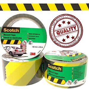 Hazard Warning Tape Roll YELLOW BLACK Self Adhesive Social Distancing PVC 33m