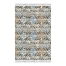 Andulus Motifs Printed Living Room and Bedroom Area Rugs Carpet Non-Slip CNK2390