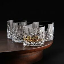4 Piece Whiskey Glasses Craft Clarity Crystal Scotch  Liquor Set Christmas Gift