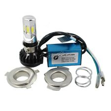 2 Sets Motorcycle Headlight LED H4 HS1 H6 Hi/Lo BA20D Motorbike 3500LM 35W White
