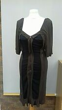 Stella mccartney Dress Size 10 khaki/black zip front iconic stretch