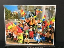 "Vintage Walt Disney Photo Print #3509 ""Mickey & Friends Greet the Guests"" 8x10"