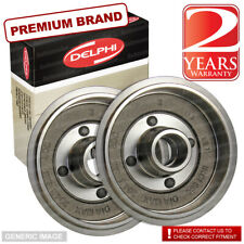 VW Passat ->88 1.5 Saloon Álcool 76bhp Rear Brake Drums Pair Kit 180mm Teves Sys