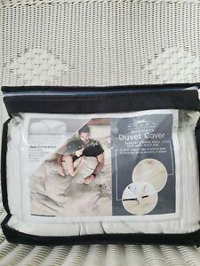 Sheex Duvet 3 pcs Set Ultra Soft King White NWOT 186