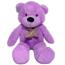 "Joyfay® 47"" 120cm Purple Giant Teddy Bear Stuffed Toy Birthday Gift"
