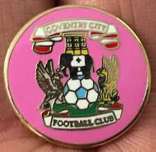 COVENTRY CITY GIRLS PINK CREST ENAMEL PIN BADGE