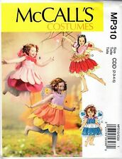 Halloween Costume Pattern Childs Fairy Costumes Sz 2-3-4-5 McCalls MP310 New