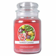 Yankee Candle Christmas Candy Large Jar Christmas Scent Red 22oz 623g NEW