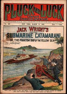 dime novel: PLUCK AND LUCK #197: Jack Wright's Submarine Catamaran; or, The Phan