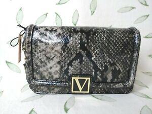 Victoria's Secret The Victoria Mini Shoulder Bag Python Gray