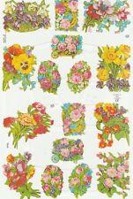 Chromo Le Suh Découpis Bouquets de fleurs 1710 Embossed Illustrations flowers