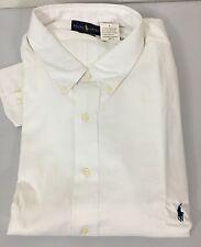 Polo Ralph Lauren Dress Shirt Mens 22 36 37 Classic Fit White Herringbone