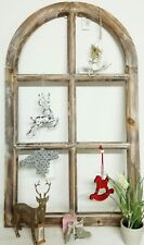 Deko Fensterrahmen Fenster Holz Braun Sprossenfenster 70cm Vintage Shabby Chic