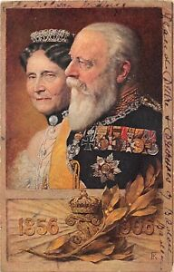 POSTCARD  ROYALTY  GERMANY - BADEN - FREDERICK I & LOUISE - 1856 - 1906