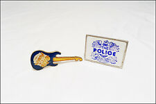 The Police Sting Lot Of 2 80's Pins Badges / Mini Guitar