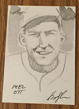 Mel Ott 2012 Leaf Sketch Card #1/1 - New York / San Francisco Giants