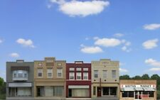 #700 HO  COMMERCIAL FRONTS SET #1 - four background buildings  *FREE SHIPPING*