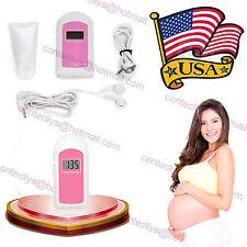 Usa Stock!Ultrasound Prenatal Fetal Doppler,Baby Heart beat Monitor,Lcd,Free Gel