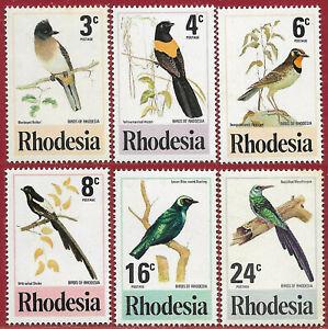 Rhodesia 1977 Set 0f 6 Birds sg 537-42 MNH