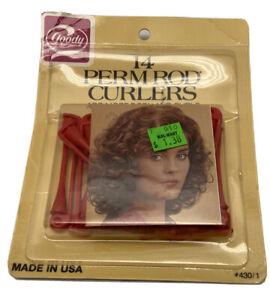 Goody Hair Perm Rod Curlers  430/1 14 Curlers per Pack Red - NIP