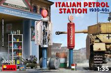 Miniart 35620 Italian Gas Station ( 1930-40 ) Scale Plastic Model Kit 1/35