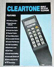 Cleartone Mobile Phone UK Sales Brochure