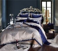 Luxury Cotton Satin Jacquard Chinese Bedding Set  Bed Sheet/Spread Set Cover