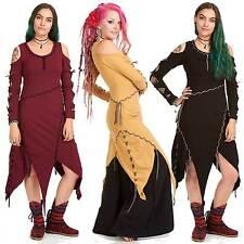 Medieval Psy Dress, Braided Tribal Goa Festival Hippy Pixie Pagan Gothic Trance