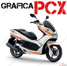 KIT ADESIVI DECAL STICKERS HONDA PCX 125 150 RACING CARENE ARANCIONE ADESIVO