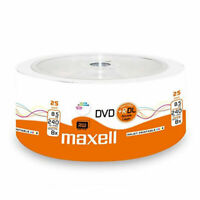 25 Maxell DVD+R 8.5GB DL Dual Layer Shrink 8X Vergini 276078.40