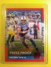 """2017 Donruss Golden Tate III Detroit Lions """"Red Press Proof"""" card #13 GEM-MINT"""