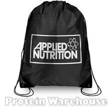 Applied Nutrition Black Swoosh Gym Sack Drawstring Work Out Bag Men Women String